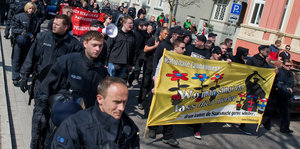 Neonazis demonstrieren in Neuruppin