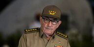 Raul Castro in Uniform