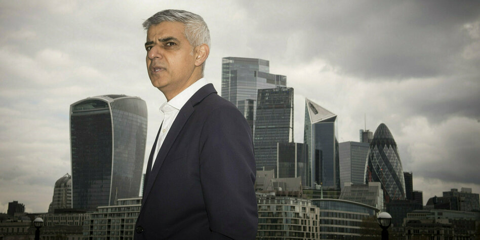 Sadiq Khan vor der City of London