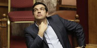 Alexis Tsipras im Parlement in Athen