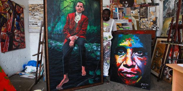 Portraits von Obama