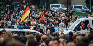 Rechtsextreme Demonstranten in Freital
