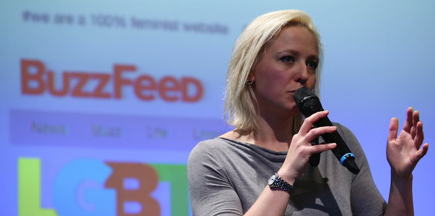 Juliane Leopold bei der Social Media Week 2015 in Hamburg