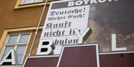 Plakat am Kino Babylon