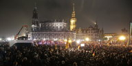 Pegida-Demonstranten in Dresden