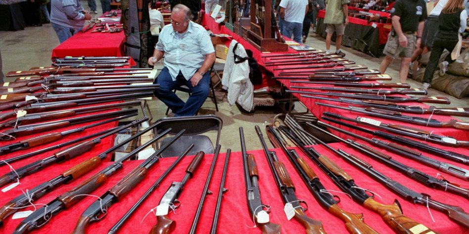 Robin Jeans Waffenlobby vor der US...