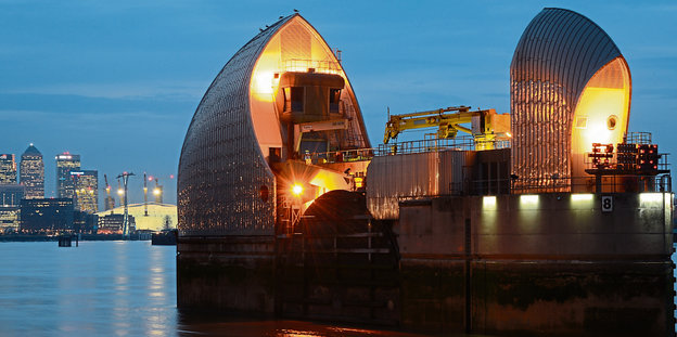Die Thames Barrier.
