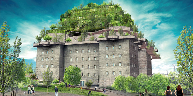 Dachgarten f r st pauli pyramide auf dem bunkerdach - Stadtgarten hamburg ...