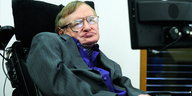 Sir Stephen Hawking, aufgenommen am 30.04.2013 in London.