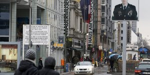 Checkpoint Charlie in Berlin.