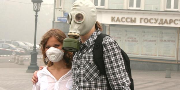 Gasmaske und mundschutz sind zum alltag in moskau geworden bild dpa